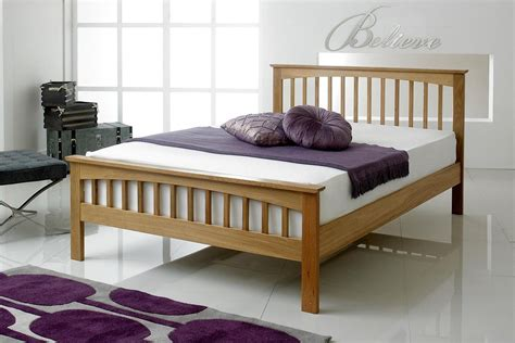 Superking Bed Frame Uk Heywood Solid Oak Bed Frame 4ft6 The Oak Bed