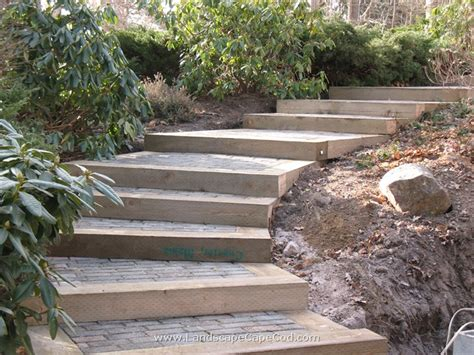 Landscape Timbers Steps Railroad Ties Landscaping On Retaining Walls
