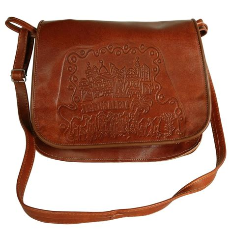 Handcrafted Bags - handmade leather bag jerusalem large jpg