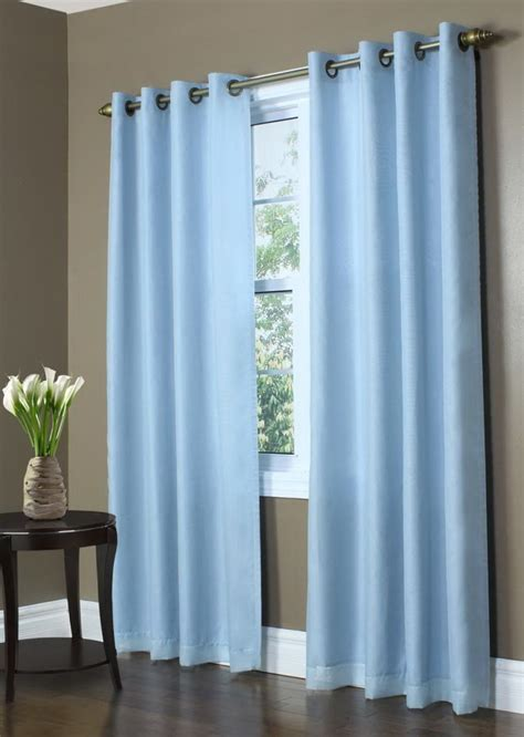 baby blue blackout curtains baby blue and white curtains home design ideas
