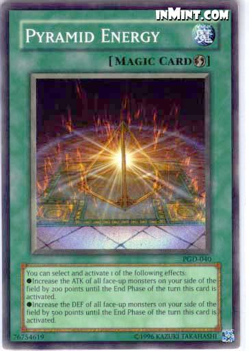 Pyramid Turtle Common inmint yugioh common card singles pyramid energy pgd 040 unlimited edition