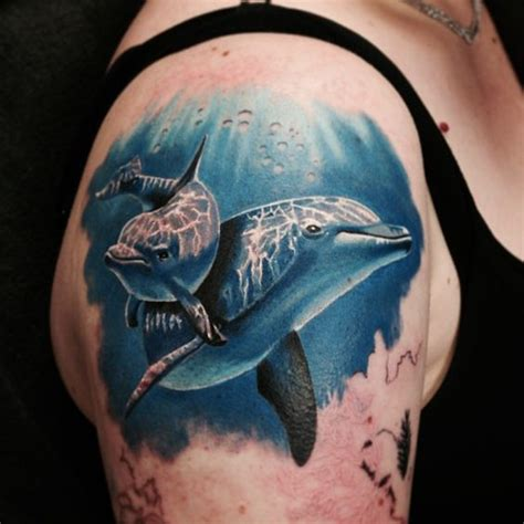 dolphin tattoo on nub arm 35 awesome realistic tattoo designs amazing tattoo ideas