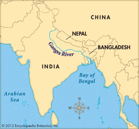 ganges river map ganges river encyclopedia children s homework