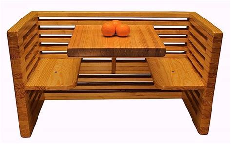recycled bowling alleys make awesome wood furniture