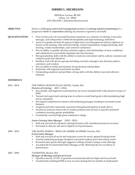 Catering Event Planning Resume by Catering Sales Director Resume