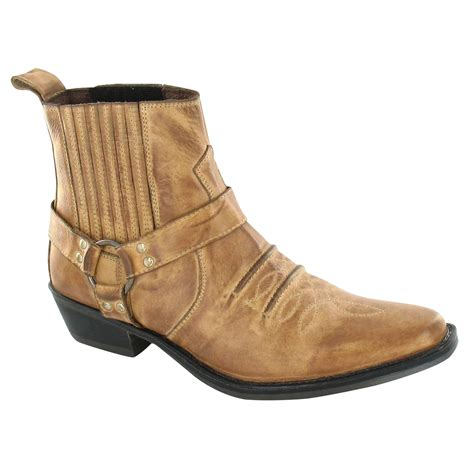 cowboy ankle boots for maverick mens a3003 cowboy ankle boots ebay