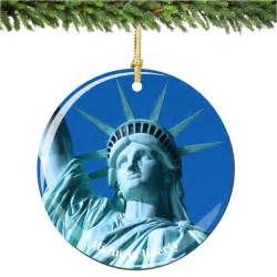 statue of liberty porcelain christmas ornament