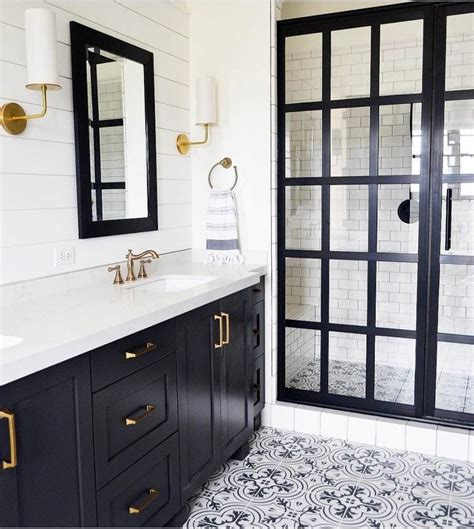 Black And White Bathroom Floor by Home Design Black And White Bathroom Floor Tiles The