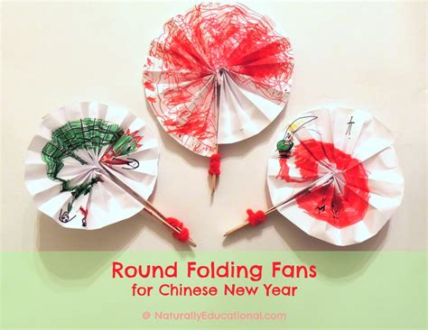 new year fan template new year paper chain craft naturally
