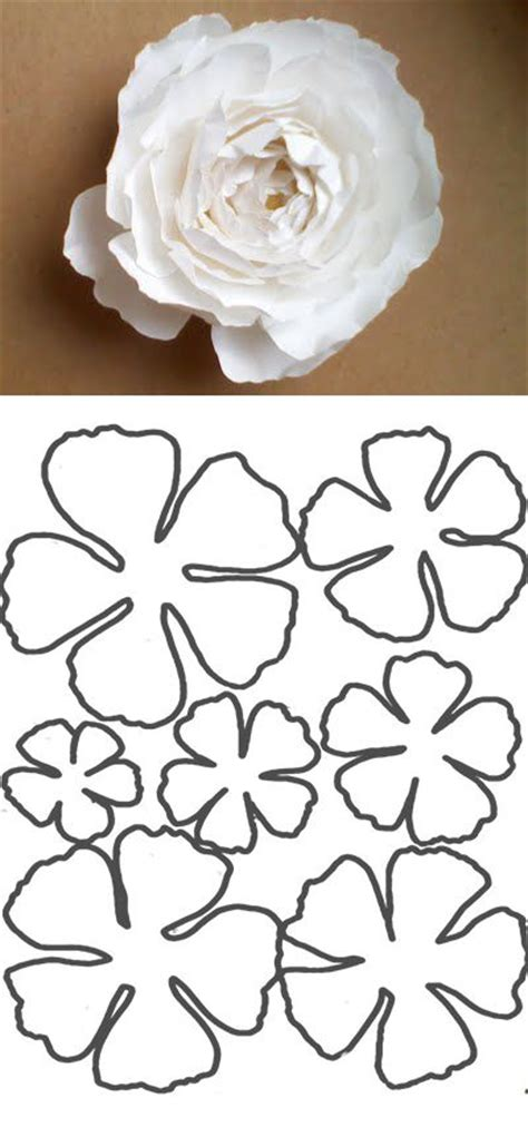 diy paper flower template 25 best ideas about flower template on paper