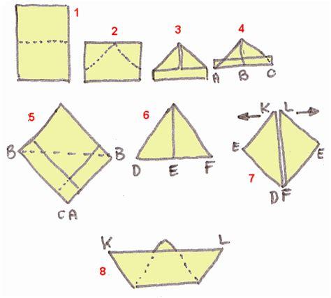 knutselcategorie vouwen bootje vouwen - Bootje Vouwen Vierkant Papier