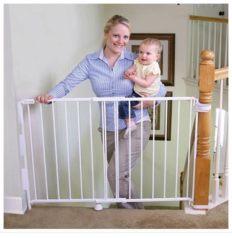banister protection for babies 40 top of the stairs safety gate with 32 quot height and