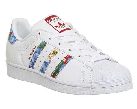 Adidas Superstar 1 adidas superstar womens superstar 1 white floral dhanchayat