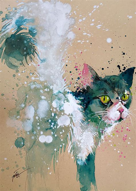 the gallery for gt colorful animal paintings