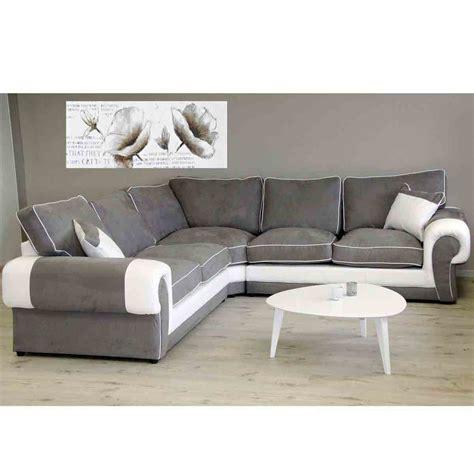 canape gris blanc