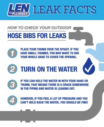 How To Test Plumbing For Leaks by How To Check Your Outdoor Hose Bib For Leaks Len The Plumber