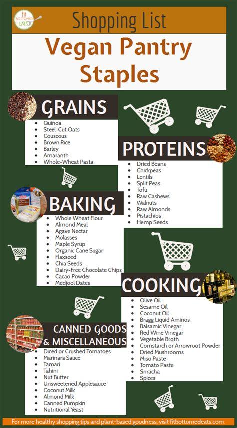Pdf Vegan Pantry Staples by Vegan Grocery List