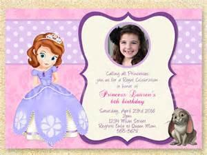 sofia the first birthday invitation princess sofia party