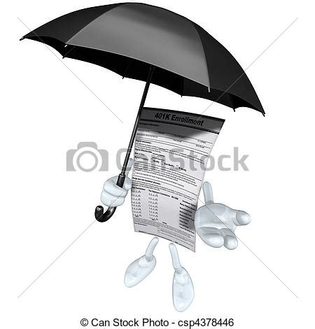 Drawing 401k by Stock Illustration Of 401k Form With Umbrella 3d Concept