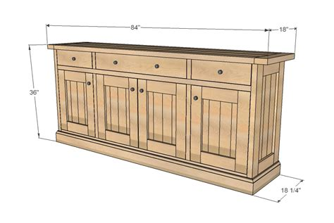 Rustic Buffet Cabinets by Ana White Planked Wood Sideboard Diy Projects