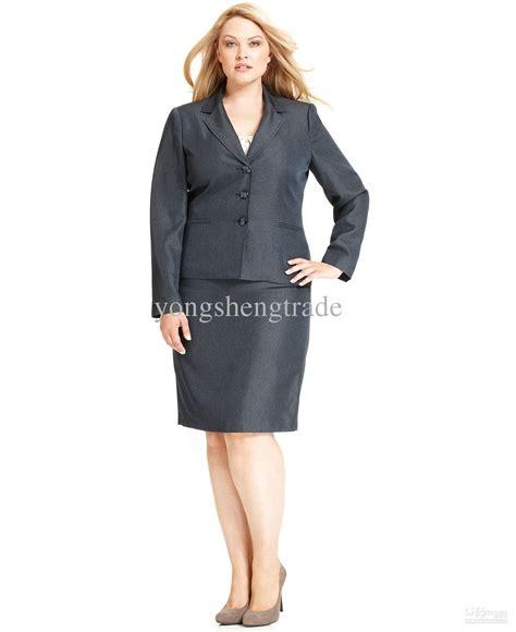 Dress Casual Wanita Laskar Dress Grey Navy plus size skirt suit gray blazer skirt business
