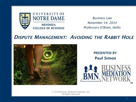 Nd Mba Curriculum by Notre Dame Emba Presentation