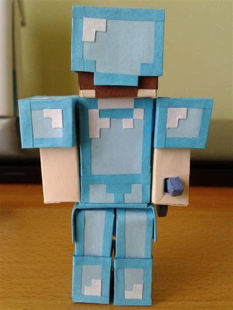 minecraft steve  diamond armor deviantart