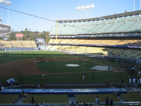 dodger stadium sections dodger stadium section 133 rateyourseats com