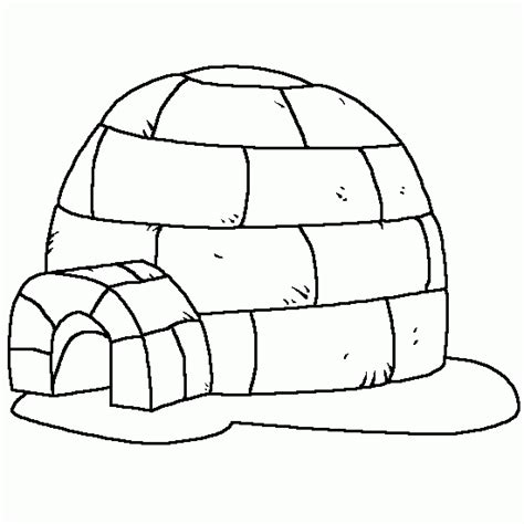 Coloring Page Igloo by Free Coloring Pages Of What An Igloo
