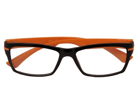 aoito black front orange temples spectacles frames