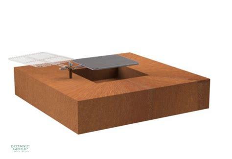 cortenstahl feuerschale feuerschale designline cube aus cortenstahl