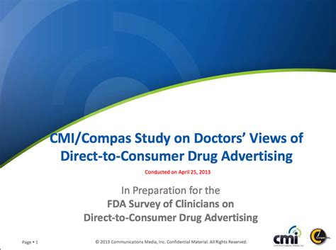 direct to consumer pharmaceutical advertising cmi compass study world of dtc marketing com