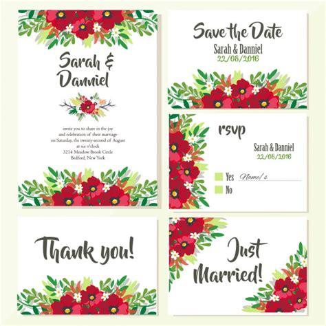 Wedding Card Designs Vector Free by Wedding Invitations Floral Design Vector Free
