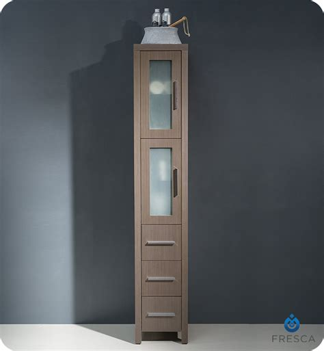tall bathroom linen cabinets fresca fst6260go torino tall bathroom linen side cabinet