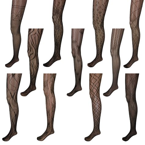 patterned nylon tights adorox black pattern net lace stockings fishnet tights