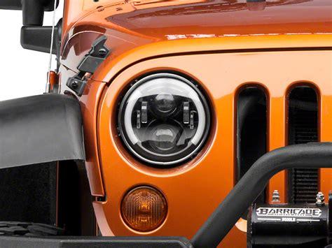 Lu Led Mobil Jeep raxiom wrangler 6 led headlight replacement with partial halo j108063 97 17 wrangler tj jk