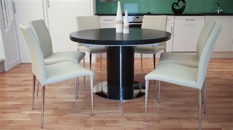 Black Ash Dining Table Black Ash Extending Dining Table Pedestal Base Uk