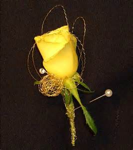 gold boutonniere prom boutonnieres dandelions flowers gifts