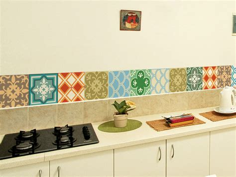 Kitchen Backsplash Stickers by Tile Decals Set Of 15 Tile Stickers Geometric