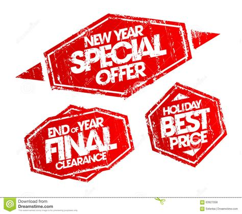 new year special offer st end of year final clearance