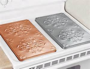 Covers give your stove that old timey look beyond the kitchen sink