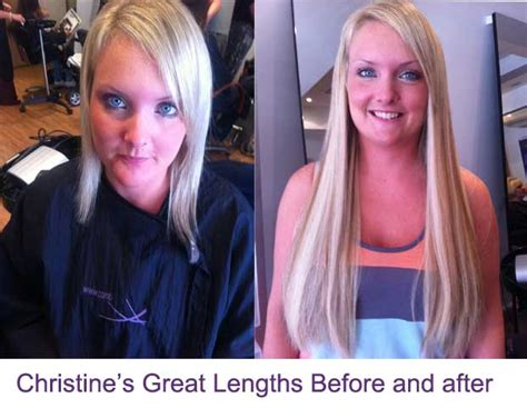 before and after great lengths before and after photos of great lengths hair extensions
