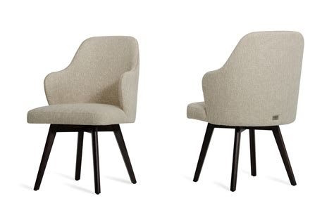 caligari modern oak white fabric dining chair set of 2