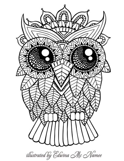 owl mandala coloring pages for adults 25 best ideas about owl coloring pages on owl
