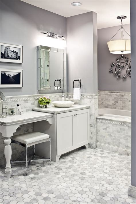 white and gray marble bathrooms 30 great ideas for marble bathroom floor tiles