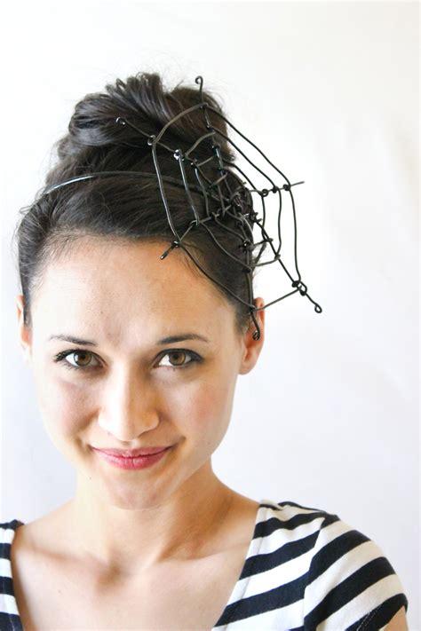 quick hair tutorial using a fascinator head band youtube spiderweb fascinator tutorial