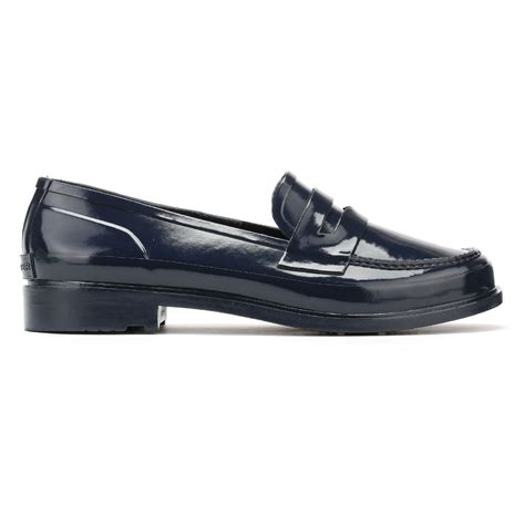 original loafer shoes original womens navy rubber loafer casual
