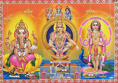 god ayyappa themes ayyappan murugan and ganesha reprint on paper unframed