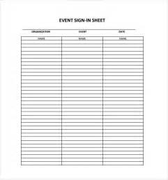 Sign In Sheet Free Template by 18 Sign In Sheet Templates Free Sle Exle Format