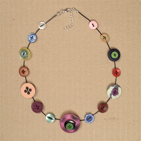 how to make jewelry with buttons button necklace bundle helen makes things
